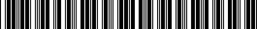 Barcode for PT9087619020