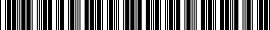 Barcode for PT9087619402
