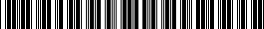 Barcode for PT9197619021