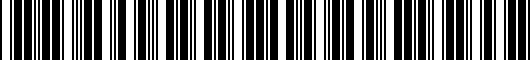 Barcode for PT94476190AA